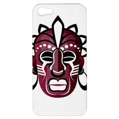 Mask Apple Iphone 5 Hardshell Case by Valentinaart
