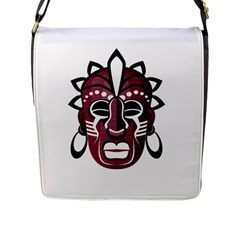 Mask Flap Messenger Bag (l)  by Valentinaart