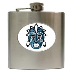 Mask Hip Flask (6 Oz) by Valentinaart