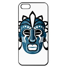 Mask Apple Iphone 5 Seamless Case (black) by Valentinaart