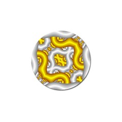 Fractal Background With Golden And Silver Pipes Golf Ball Marker (10 Pack) by Amaryn4rt