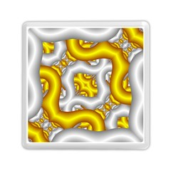 Fractal Background With Golden And Silver Pipes Memory Card Reader (square)  by Amaryn4rt