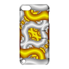 Fractal Background With Golden And Silver Pipes Apple Ipod Touch 5 Hardshell Case With Stand by Amaryn4rt