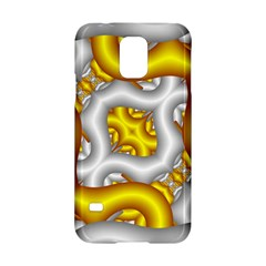 Fractal Background With Golden And Silver Pipes Samsung Galaxy S5 Hardshell Case  by Amaryn4rt
