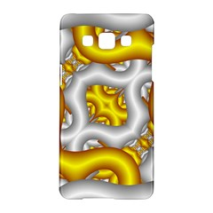 Fractal Background With Golden And Silver Pipes Samsung Galaxy A5 Hardshell Case  by Amaryn4rt