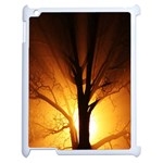 Rays Of Light Tree In Fog At Night Apple iPad 2 Case (White) Front