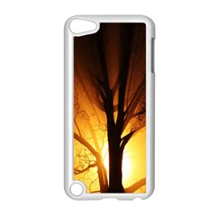 Rays Of Light Tree In Fog At Night Apple Ipod Touch 5 Case (white) by Amaryn4rt