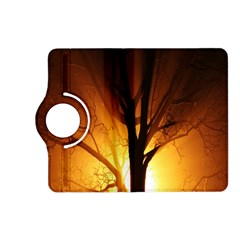 Rays Of Light Tree In Fog At Night Kindle Fire Hd (2013) Flip 360 Case by Amaryn4rt