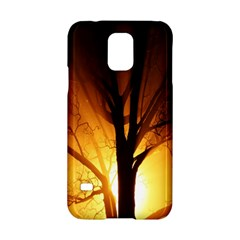 Rays Of Light Tree In Fog At Night Samsung Galaxy S5 Hardshell Case  by Amaryn4rt