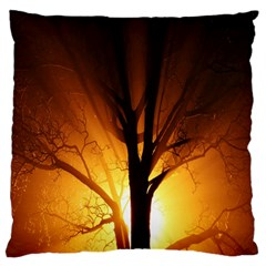 Rays Of Light Tree In Fog At Night Standard Flano Cushion Case (one Side) by Amaryn4rt