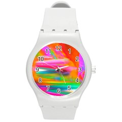 Abstract Illustration Nameless Fantasy Round Plastic Sport Watch (m)