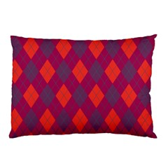 Plaid Pattern Pillow Case (two Sides) by Valentinaart