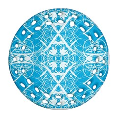 Pattern Round Filigree Ornament (two Sides) by Valentinaart
