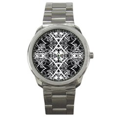 Pattern Sport Metal Watch by Valentinaart