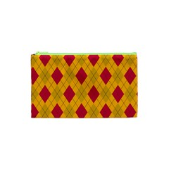 Plaid Pattern Cosmetic Bag (xs)