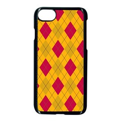 Plaid Pattern Apple Iphone 7 Seamless Case (black) by Valentinaart