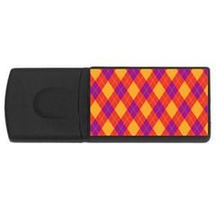 Plaid Pattern Usb Flash Drive Rectangular (4 Gb) by Valentinaart