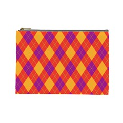 Plaid Pattern Cosmetic Bag (large)  by Valentinaart