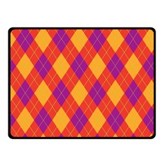 Plaid Pattern Fleece Blanket (small) by Valentinaart