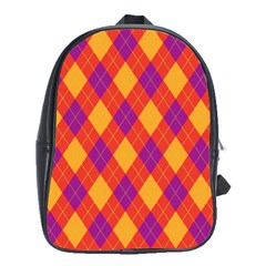 Plaid Pattern School Bags (xl)  by Valentinaart