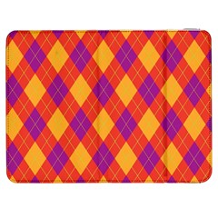 Plaid Pattern Samsung Galaxy Tab 7  P1000 Flip Case by Valentinaart