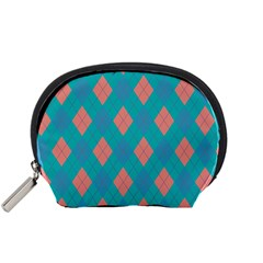 Plaid Pattern Accessory Pouches (small)