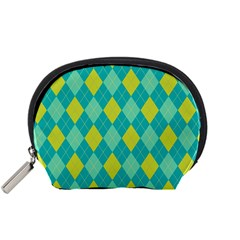 Plaid Pattern Accessory Pouches (small)  by Valentinaart