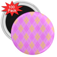 Plaid Pattern 3  Magnets (100 Pack) by Valentinaart