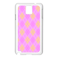 Plaid Pattern Samsung Galaxy Note 3 N9005 Case (white) by Valentinaart