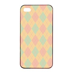 Plaid Pattern Apple Iphone 4/4s Seamless Case (black) by Valentinaart
