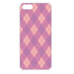 Plaid Pattern Apple Iphone 5 Seamless Case (white) by Valentinaart