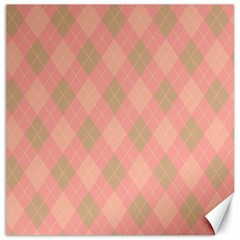 Plaid Pattern Canvas 12  X 12   by Valentinaart