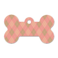 Plaid Pattern Dog Tag Bone (one Side) by Valentinaart
