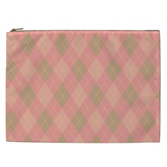 Plaid Pattern Cosmetic Bag (xxl)  by Valentinaart