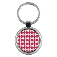 Plaid Pattern Key Chains (round)  by Valentinaart