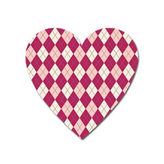 Plaid Pattern Heart Magnet by Valentinaart