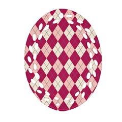 Plaid Pattern Ornament (oval Filigree) by Valentinaart