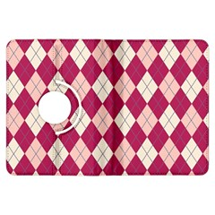 Plaid Pattern Kindle Fire Hdx Flip 360 Case by Valentinaart