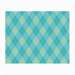 Plaid Pattern Small Glasses Cloth by Valentinaart
