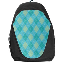 Plaid Pattern Backpack Bag by Valentinaart