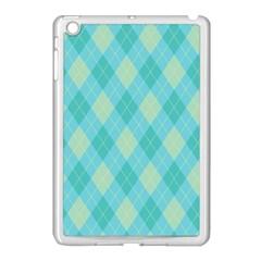 Plaid Pattern Apple Ipad Mini Case (white) by Valentinaart
