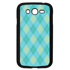 Plaid Pattern Samsung Galaxy Grand Duos I9082 Case (black) by Valentinaart