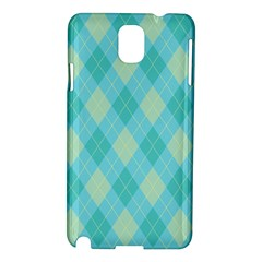 Plaid Pattern Samsung Galaxy Note 3 N9005 Hardshell Case by Valentinaart