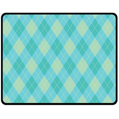 Plaid Pattern Double Sided Fleece Blanket (medium)  by Valentinaart