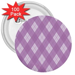 Plaid Pattern 3  Buttons (100 Pack)  by Valentinaart