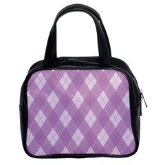 Plaid Pattern Classic Handbags (2 Sides) by Valentinaart