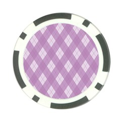 Plaid Pattern Poker Chip Card Guard (10 Pack) by Valentinaart