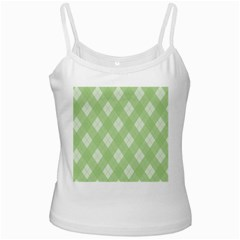 Plaid Pattern White Spaghetti Tank by Valentinaart