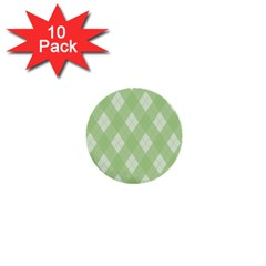 Plaid Pattern 1  Mini Buttons (10 Pack)  by Valentinaart
