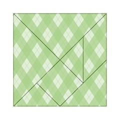 Plaid Pattern Acrylic Tangram Puzzle (6  X 6 ) by Valentinaart